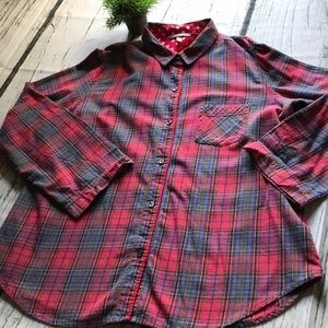 Victoria Secret red plaid blouse in size Large